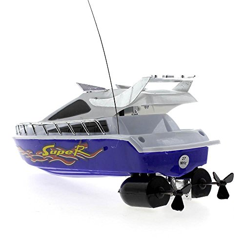 Shalleen Mini Radio Remote Control RC Speed Boat Electric Toy Ship Kids Simulation Model