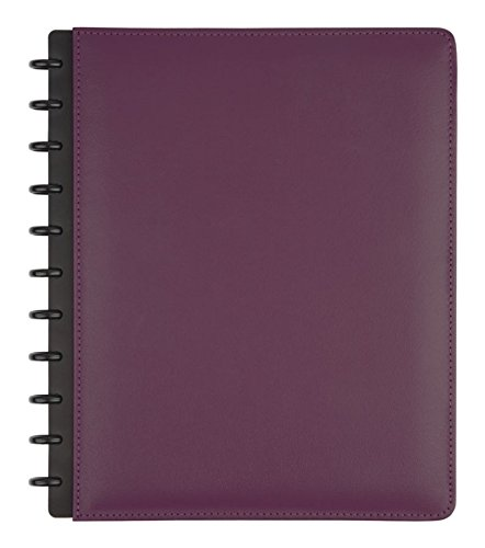 TUL Custom Note-Taking System Discbound Notebook, Letter Size, Leather Cover, Purple