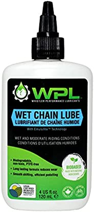 WPL Wet Chain Lube 120ml - Premium Bike Chain Lube for Mountain Bikes and Road Bikes - for Pedal Efficiency an