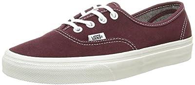 Vans Unisex Authentic (Varsity Suede) Red Mahog Skate Shoe 4.5 Men US/6 Women US