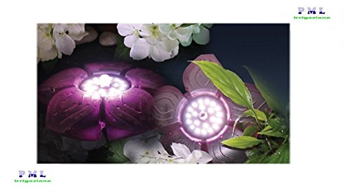 Faretto fiore galleggiante per laghetto flower led basic 3 5w