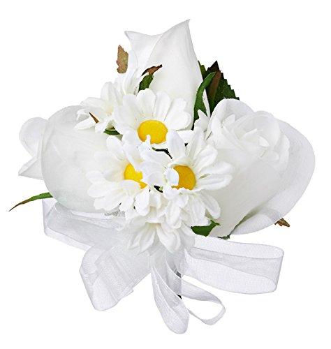 Daisy Rose Silk Corsage - Wedding Corsage ()