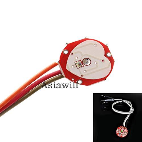 Asiawill Pulsesensor Pulse Heart Rate Sensor Module for Arduino - Red