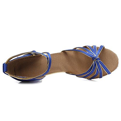 Hroyl Danse De Satin 217 Femmes 5cm Bleu Chaussures Danse chaussures Modèle Latine ZEqr5Zxa0n