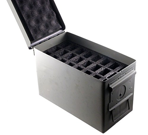 (Premium Tactical Supply .50 Cal Ammo Can 24 Pistol Magazine Holder Foam - Insert for Steel 50 Caliber Ammunition Box (M2A1) - Replaces Gun Clip Pouch (1 Pack))