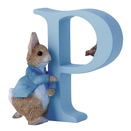 Beatrix Potter Alphabet Figurine Letter P Peter Rabbit NEW! (Rabbit Alphabet)