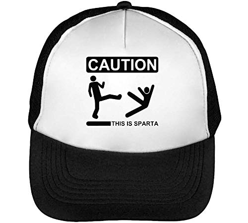 Is Sparta Beisbol Gorras Funny Snapback Blanco This Negro Hombre H4qwfqd