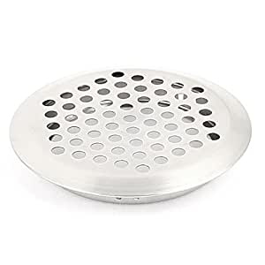 uxcell Round Panel Shoes Cabinet Air Vent Louver Cover 53mm Bottom Dia