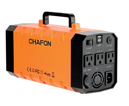 1 500w Generators (346WH Portable UPS Battery Backup Generator,Rechargeable Power Source Inverter with 110V/500W AC Outlet,12V Car,USB Output,Car Jump Starter for Camping -Orange)