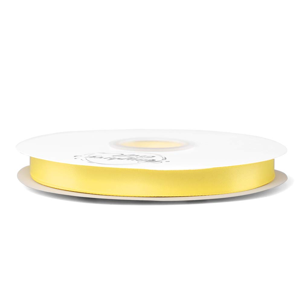 Humphreys Craft 1//2-inch Double Face Solid Satin Ribbon 100/% Polyester Ribbon Roll-50 Yard Lemon Yellow