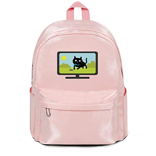 Big Cat Tv 2018 Bag Purse Fashion Nylon Lightweight 13 Inch Laptop Compartment Backpack College Bookbag