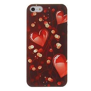 TY-Smooth Corazón-forma y la luz del modelo del caso duro para el iPhone 5/5S