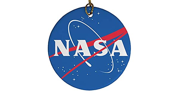 Amazon.com: Customized Girl NASA Ornament: Porcelain Circle Ornament: Home  & Kitchen - Amazon.com: Customized Girl NASA Ornament: Porcelain Circle Ornament