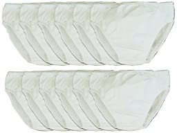 My Pool Pal 12 Count Disposable Swim Diaper, White, 18 Months