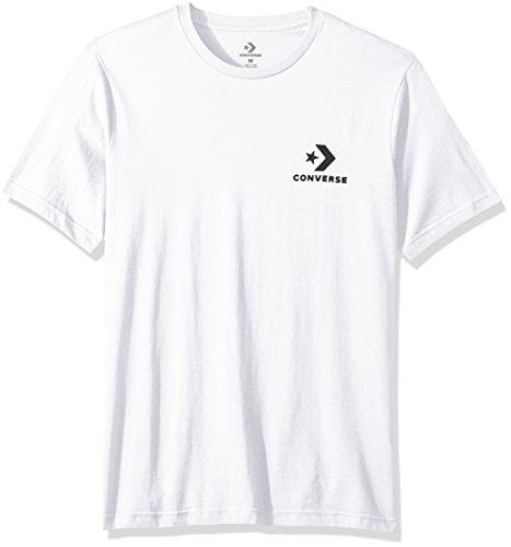 Converse Men's Star Chevron Small Logo Short Sleeve T-Shirt, Optical White, -