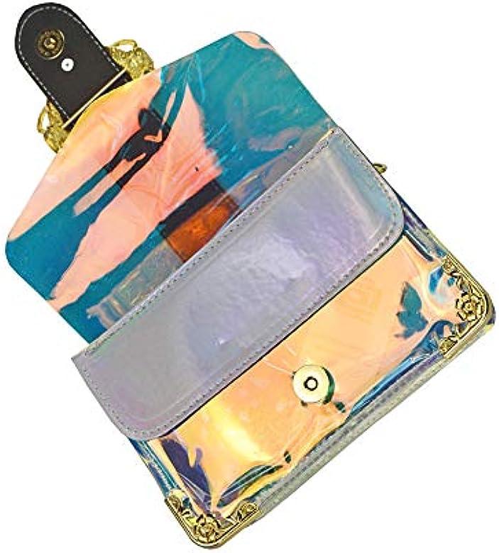 Amazon.com: Bolso para mujer con holograma láser, diseño de ...