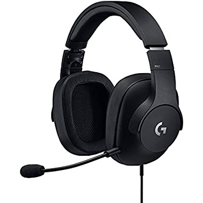 Logitech Pro Gaming Headset  lightweight with Pro-G audio drivers  for PC  PS4  Switch  Xbox One  VR