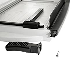 Paper Cutter Trimmer KomboKut Combo Guillotine and Rotary Paper Cutting the best 12 inch for Small Office or Hobby - includes platform Lifetime Guarantee
