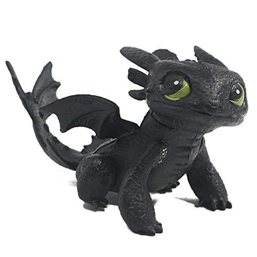 MINGZE Dragons, como Entrenar a tu dragon, Q Version Muneca sin Dientes Nightingale, Adulto Ninos Juguete Adornos de Personajes de Dibujos Animados (A)