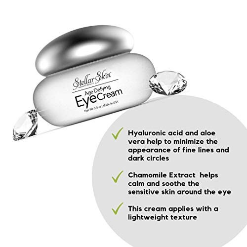 Eye Cream With Hyaluronic Acid - Perfect To Diminish Fine Lines & Wrinkles Around The Eye, Moisturizes Skin To Attack Those Under Eye Circles For That Youthful Look