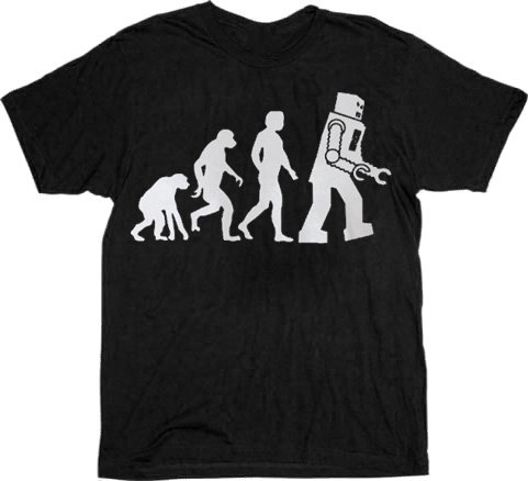 The Big Bang Theory Robot Evolution T-shirt Tee