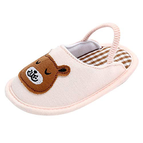 iFOMO Baby Girls Boys Infant Cute Rainbow Animals First Walking Toddler Shoes Warm Slippers(Brown,0-3Months) - Highland Suede Boot
