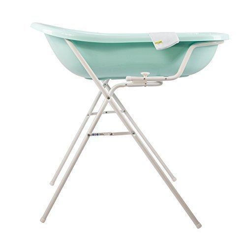 Baby Badewanne aquamarin XXL + Badewannenständer + Waschhandschuh OKT