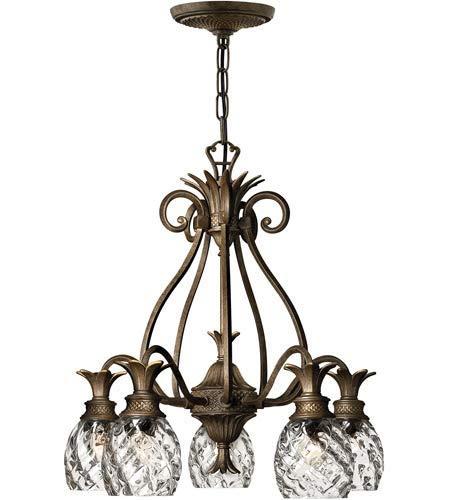 Pendants 5 Light Fixtures with Pearl Bronze Finish Cast Aluminum Material Medium 22