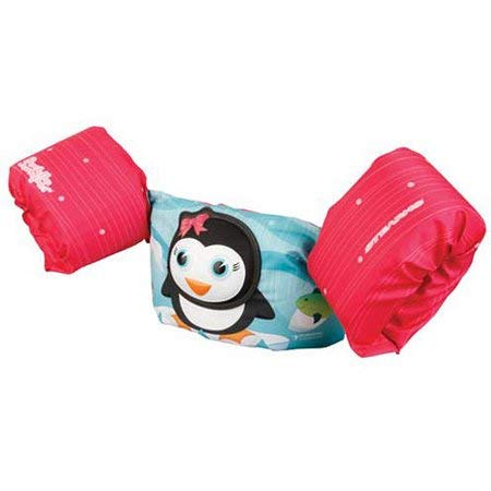 Penguin Jumper - New Wow SO Adorable US Coast Guard Approved Reliable Easy Care and Store Stearns Puddle Jumper Bahamas 3D Life Jacket Pink Penguin - Make Fun Last Longer for Kids in The Water !
