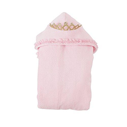 Mud Pie Princess Crown Hooded Terry Cloth Bath Towel, Pink