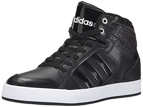 adidas NEO Women's Bbadidas Performance Raleigh Mid W Basketball Fashion Sneaker,Black/Black/White,7.5 M US