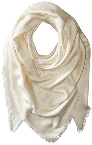 Marc Jacobs Women's Monogram Solid Monogram Logo Shawl In Ivory, One Size by Marc Jacobs