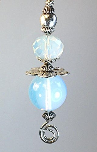 Opal Disc - Luminous Opal Smooth Moonstone Glass and Metal Disk Flower Light or Ceiling Fan Pull Chain