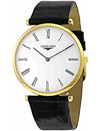 La Grande Classique White Dial Black Leather Mens Watch L47552112 · Longines