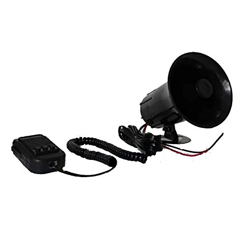 YHAAVALE 3 Tone Sound Car Siren Speaker,DV12V,50W Car Horn Vehicle Horn with Mic Loudspeaker Emergency Electronic PA System Police - Electronic Horn Sound