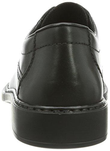 Derby Hommes B0812 De Noir Rieker Chaussures Richelieu À Lacets (nero / 01)