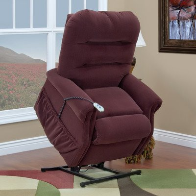 30 Series Wide Three-Way Reclining Lift Chair Upholstery: Aaron - Berry, Moveable Infrared Heat: No, Vibration and Heat: Ultra-EZZ III (Series Wide Lift Chair)