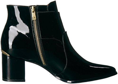 Calvin Klein Women's Florine Patent Ankle Boot Black SNlZQigV