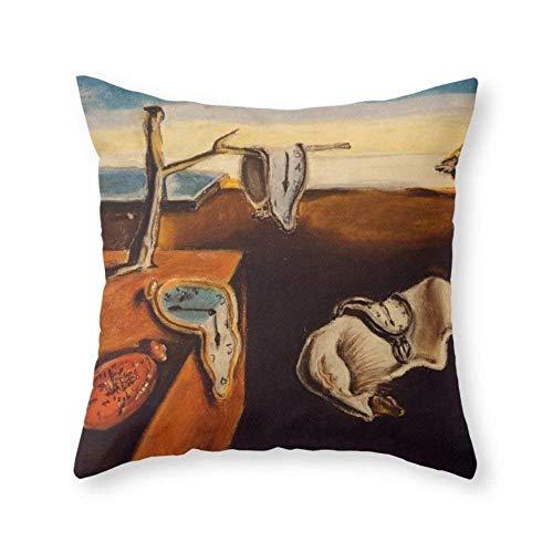 (gwaweka Salvador Dali - The Persistence of Memory Throw Pillow Indoor Cover (18