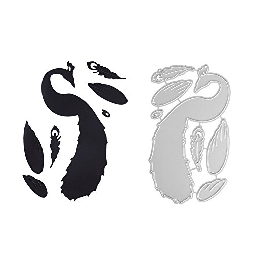 DIY Metal Cutting Dies, 3D Dies Peacock Cutting Stencil Template for DIY Scrapbook Album Paper Card