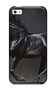 Fashion BufBAYD3030MnvJX Case Cover For Iphone 5c(horse Black Black Animal)