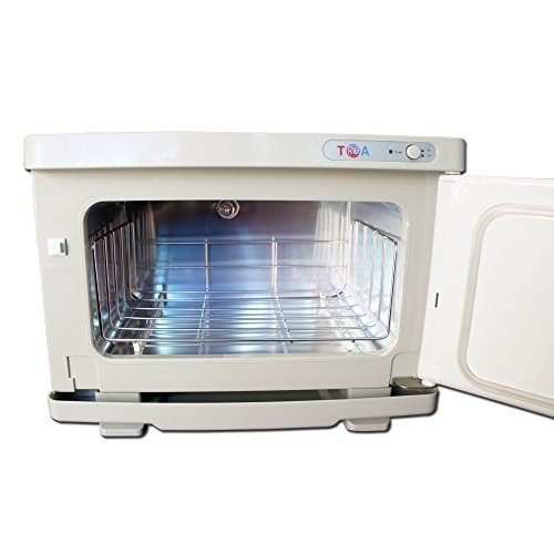 TOA Supply TOA UV Light Sterilizer Hot Towel Warmer Cabinet with Tray 2 in 1, 8S