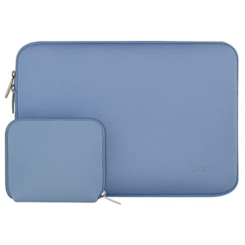 MOSISO Water Repellent Lycra Sleeve Bag Cover Compatible 13-13.3 Inch Laptop with Small Case Compatible MacBook Charger, Serenity Blue