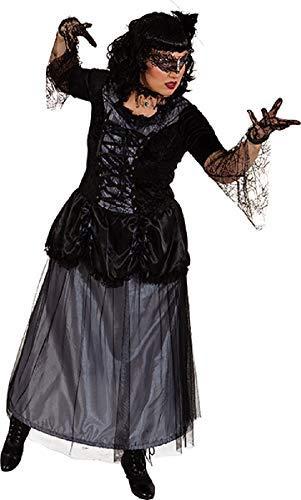 Ladies Long Gothic Corpse Bride Graveyard Queen Halloween Zombie Horror Fancy Dress Costume Outfit UK 8-22 Plus Size (UK 16-18 (EU 46/48)) ()