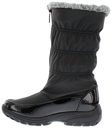 Totes Women's Rogan Snow Boot Black | Waterproof Soft Sole