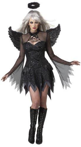 [California Costumes Fallen Angel Dress Halloween Costume, Black, X-Large by California Costume] (Fallen Angel Costume)
