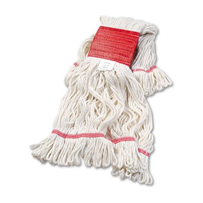 (Boardwalk 503WHEA Super Loop Wet Mop Head, Cotton/Synthetic, Large Size, White)