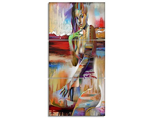 Painting on Canvas Impression Figure Abstract Artwork Nude Girls Pictures Contemporary Fine Wall Art for Living Room Posters and Print Home Decro Giclee, Framed Stretched Ready to - Nude Girls Dorm