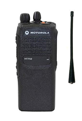 Motorola HT750 Intrinsically Safe FM Approved UHF 16 Ch 403-470 MHz Narrow Band Two Way Radio AAH25RDC9AA3AN ()