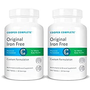 Cooper Complete – Original Multivitamin Iron Free – Daily Multivitamin and Mineral Supplement -…